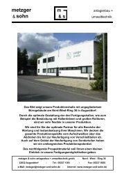 sohn & s - Metzger & Sohn Anlagenbau Und Umwelttechnik Gmbh