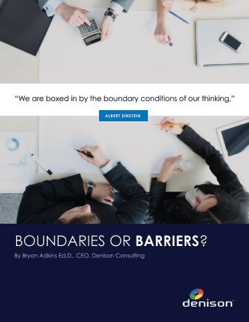 BOUNDARIES OR BARRIERS?