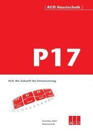 ACO Haustechnik Preisliste 2017 Gesamt