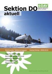 Sektionsheft 2009 - 2 (.pdf) - Deutscher Alpenverein - Sektion ...