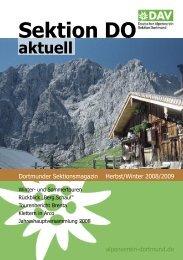 Sektionsheft 2008 - 2 (.pdf) - Deutscher Alpenverein - Sektion ...