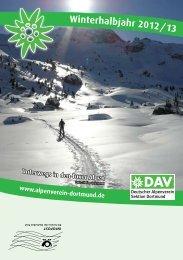 Winterhalbjahr 2012 / 13 - Deutscher Alpenverein - Sektion ...