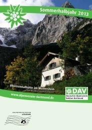 Sektionsheft 2013 - 1 (.pdf) - Deutscher Alpenverein - Sektion ...