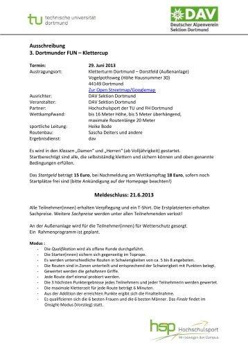 Ausschreibung - Deutscher Alpenverein - Sektion Dortmund eV