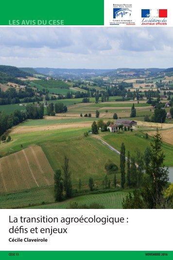 La transition agroécologique  défis et enjeux