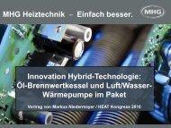 MHG Heiztechnik – Einfach besser. Innovation Hybrid-Technologie ...