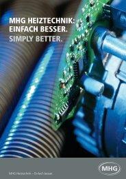 Imagebroschüre MHG Heiztechnik