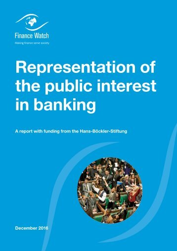 Representation of the public interest in banking