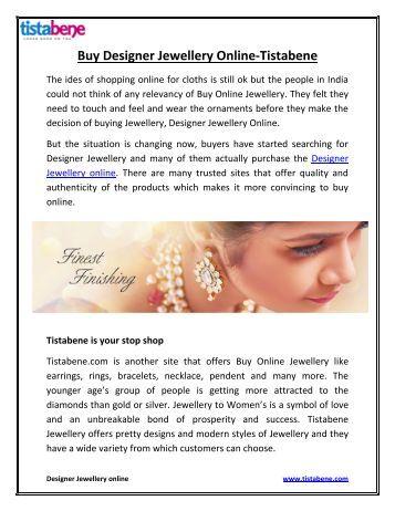 Buy Designer Jewellery Online-Tistabene