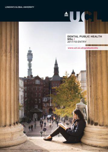 DENTAL PUBLIC HEALTH MSc / 2017/18 ENTRY