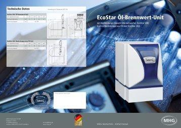 Die EcoStar Öl-Brennwert-Unit - MHG Heiztechnik
