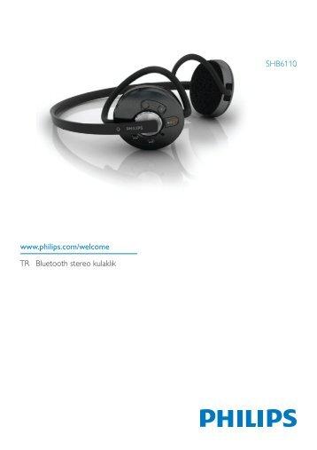 Philips Casque stéréo avec micro Bluetooth - Mode d'emploi - TUR