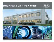 MHG Heating Ltd: Simply better - MHG Heiztechnik