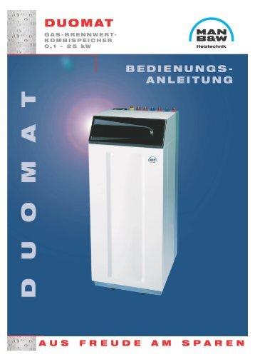 Bedienungsanleitung DUOMAT (639 KB) - MHG Heiztechnik