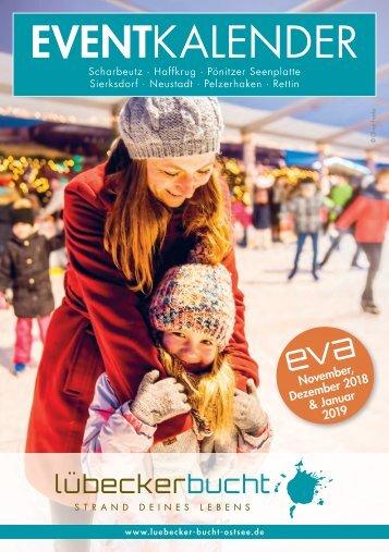 Eventkalender EVA November, Dezember & Anfang Januar 2018/19