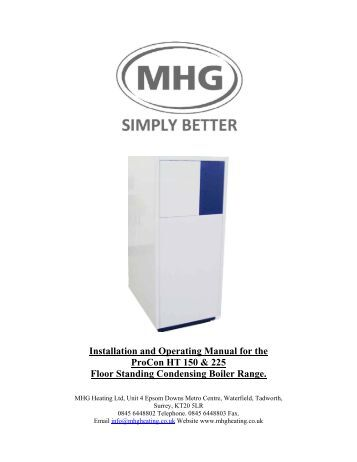 Installation and Operating Manual for the ProCon HT 150 & 225 ...