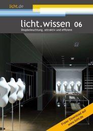 """licht.wissen 06 """"Shopbeleuchtung, attraktiv und effizient"""