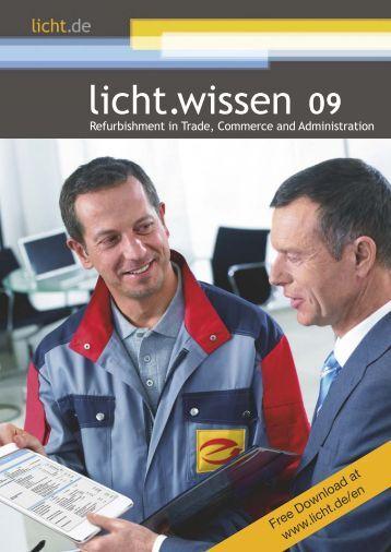 "licht.wissen No. 09 ""Refurbishment in Trade, Commerce and Administration"""