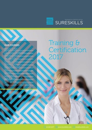 Training & Certification Brochure 2017 Dublin
