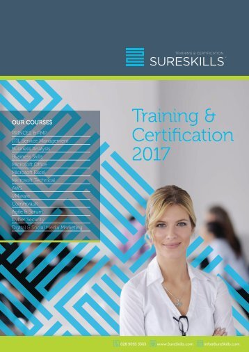Training & Certification Brochure 2017 Belfast