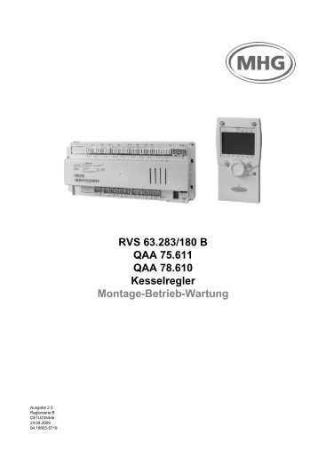 3.2 Grundgeräte RVS… - MHG Heiztechnik