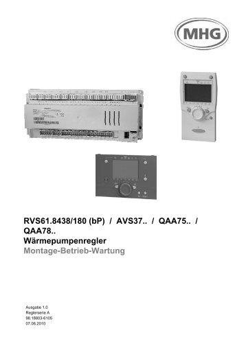 3.2 Wärmepumpenregler RVS61.843 - MHG Heiztechnik