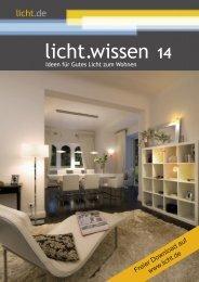 """licht.wissen 14 """"Ideen für Gutes Licht zum Wohnen"""