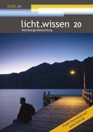 """licht.wissen 20 """"Nachhaltige Beleuchtung"""