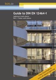 Guide to DIN EN 12464-1