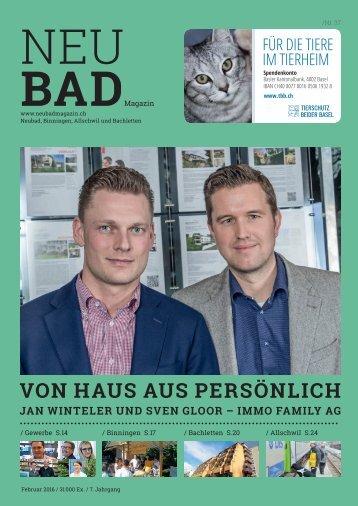 Neubadmagazin Februar 2016