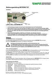 Bedienungsanleitung MICROMAT EC 30, EC 45/60