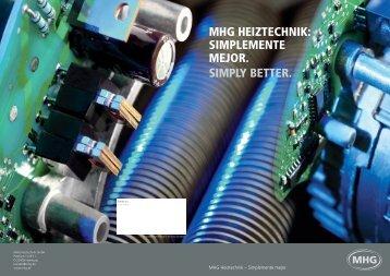 prospecto de presentatión de nuestro empresa - MHG Heiztechnik