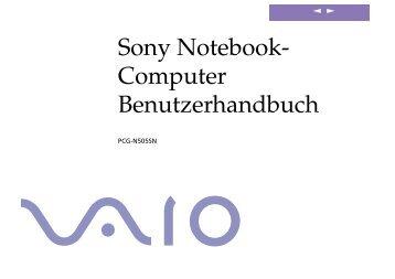 Sony PCG-N505SN - PCG-N505SN Istruzioni per l'uso Tedesco