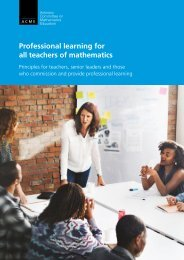 Professional learning for all teachers of mathematics