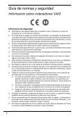 Sony VPCSB1V9E - VPCSB1V9E Documenti garanzia Spagnolo - Page 6