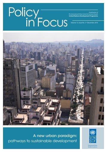 A new urban paradigm pathways to sustainable development