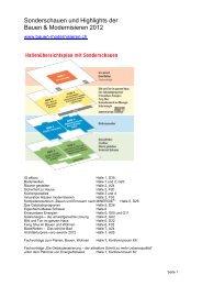 Sonderschauen und Highlights der Bauen & Modernisieren 2012
