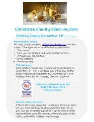 Christmas Charity Silent Auction