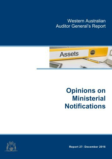 Opinions on Ministerial Notifications