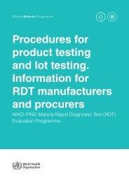 WHO-2015_Procedures-malaria-RDT-productlot-testing