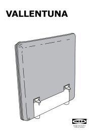 Ikea VALLENTUNA Divano A 4 Posti Con Letto - S19161390 - Istruzioni di montaggio