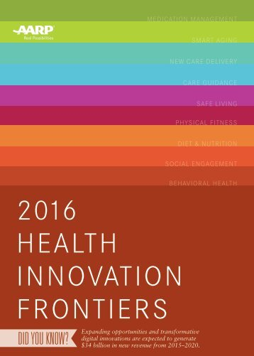 2016 HEALTH INNOVATION FRONTIERS