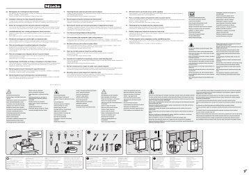 Miele G 4980 Vi Jubilee - Schema di montaggio