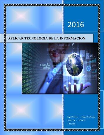 APLICAR TECNOLOGÍAS DE LA INFORMACION