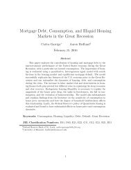 Recession housing consumption