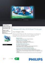 Philips 7800 series Téléviseur LED Ultra HD 4K Smart TV ultra-plat - Fiche Produit - FRA