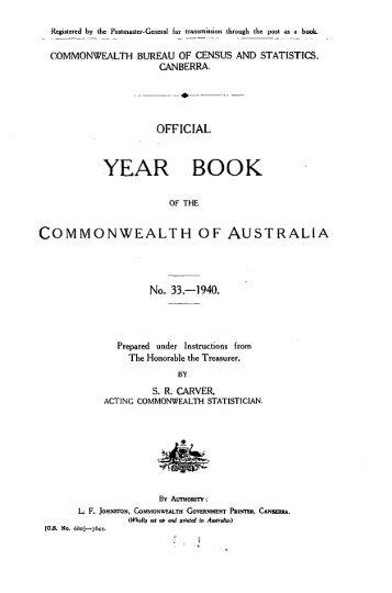 Australia Yearbook - 1940