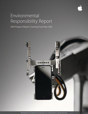 Environmental Responsibility Report