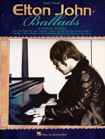 Elton John - Ballads (Easy Piano) - 2012