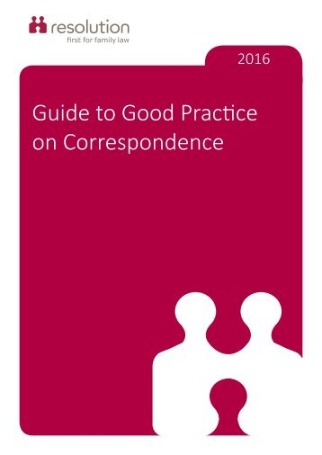 Guide to Good Practice on Correspondence
